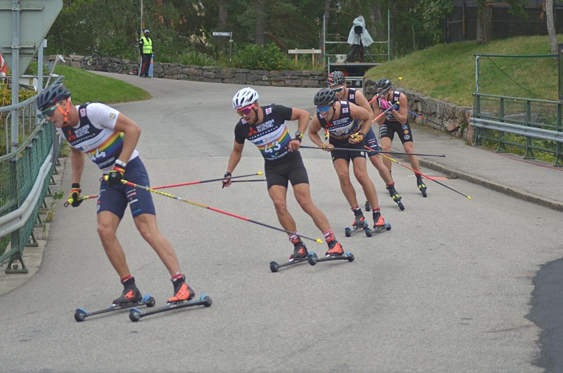 Tåget med Grate, Rueesch och Halfvarsson längst fram. FOTO: Johan Trygg/Längd.se.