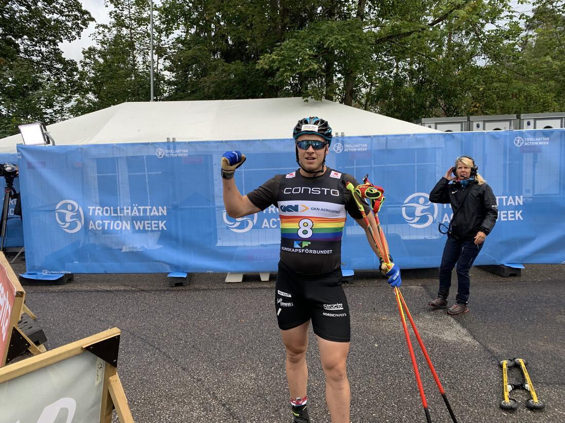 Anton Persson stark segrare i dagens sprint. FOTO: Johan Trygg / Längd.se