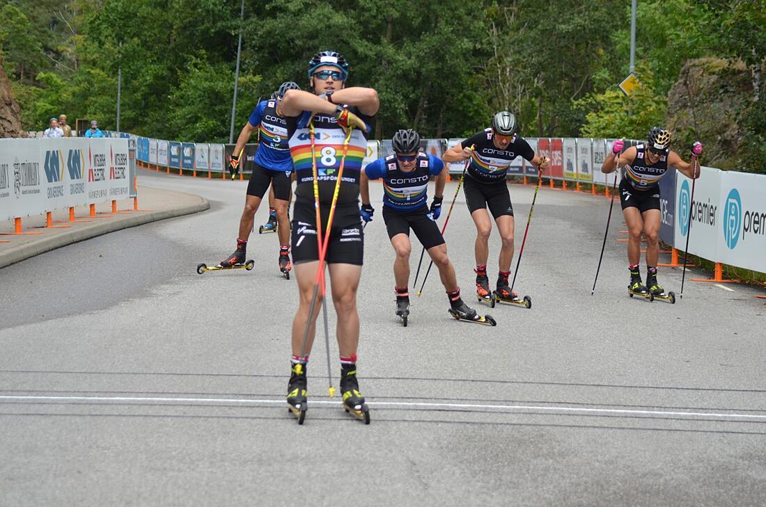 Anton Persson var starkast i herrarnas sprintfinal i Trollhättan. FOTO: Johan Trygg/Längd.se.