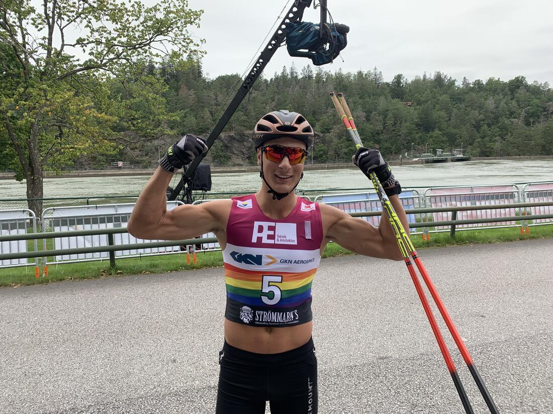 Max Novak visade styrka i Alliansloppet. FOTO: Johan Trygg / Längd.se