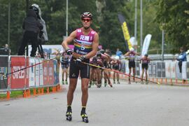 Max Novak knäckte alla på Alliansloppet och tog en suverän soloseger. FOTO: Johan Trygg/Längd.se.