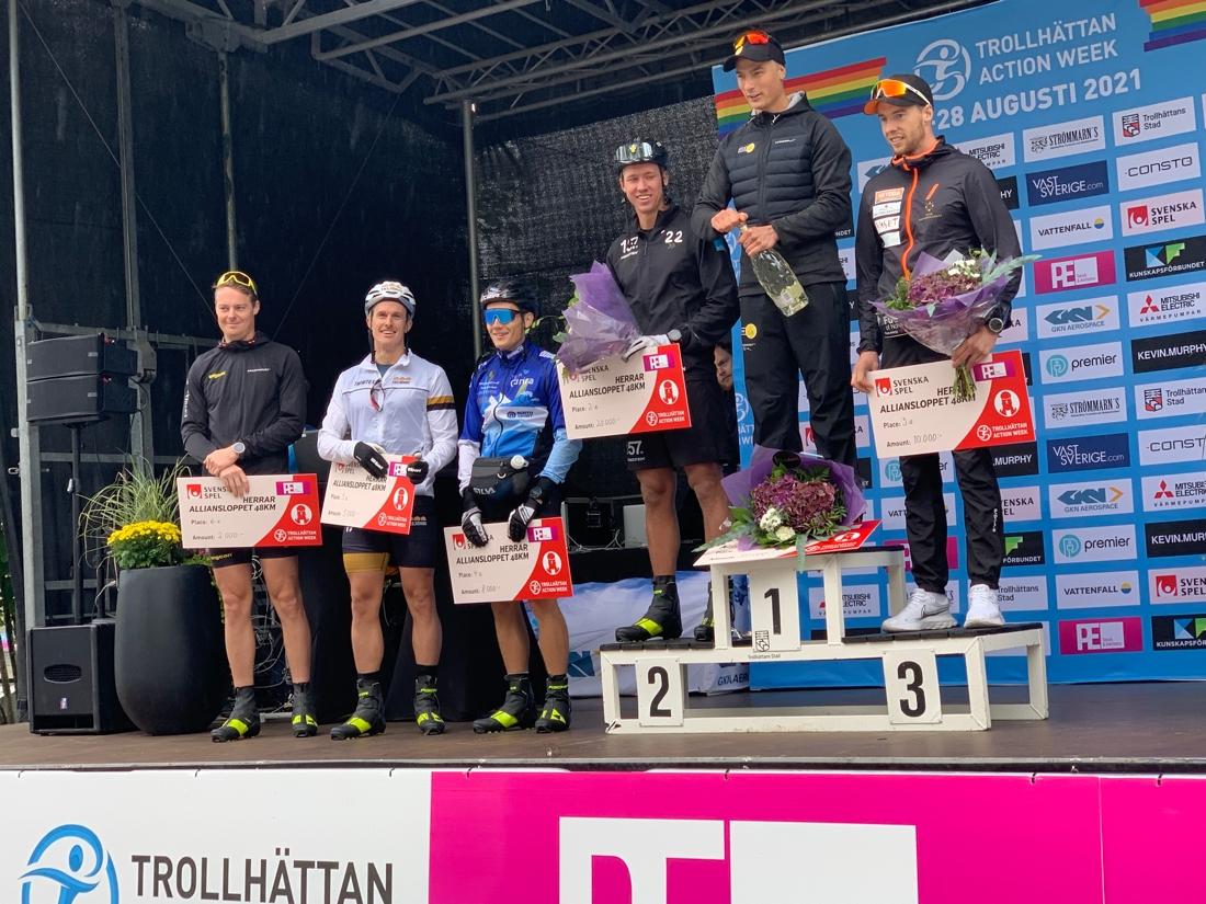 Topp sex i Alliansloppets herrklass. FOTO: Johan Trygg/Längd.se.