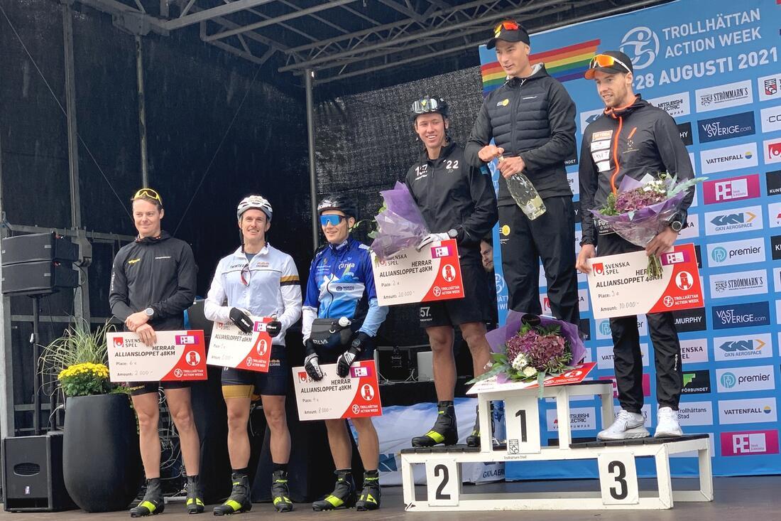 Max Novak fick 50 poäng till Visma Ski Classics Champion- och Ungdomstävling för sin seger på Alliansloppet. FOTO: Johan Trygg/Längd.se.
