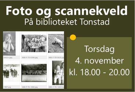 Ingressbilde Foto og scannekveld november