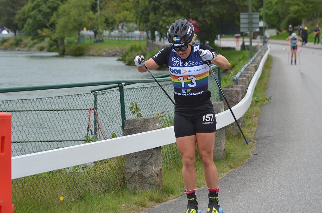 Hanna Falk får bära favoritskapet på Värnamorullen i morgon. FOTO: Johan Trygg/Längd.se.