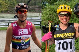 Max Novak och Lina Korsgren vann OnePartnerGroup-loppet i Östersund på söndagen. FOTO: Johan Trygg/Längd.se.