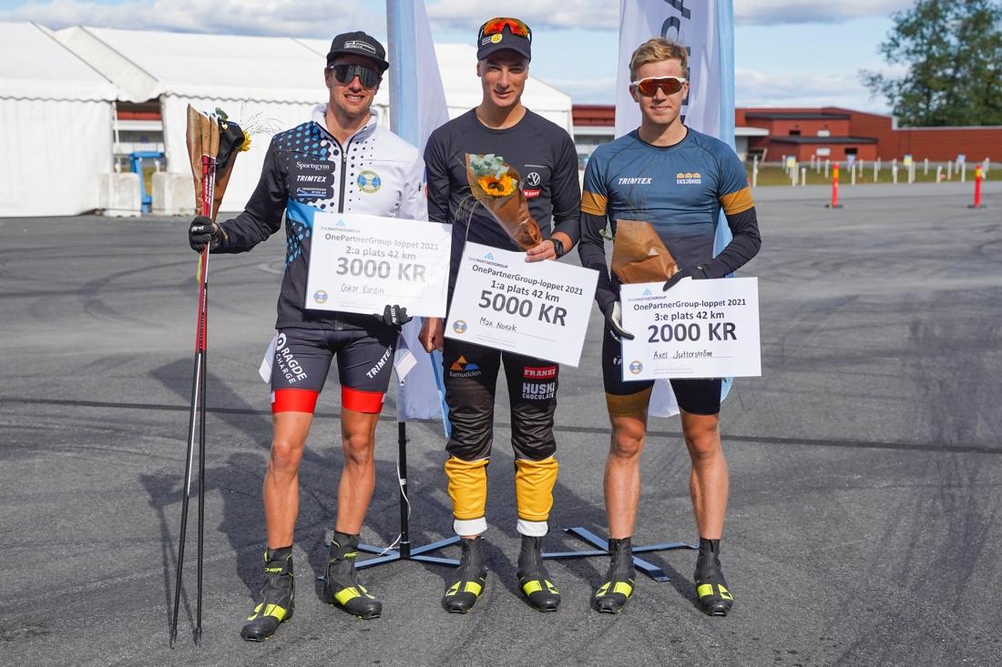 Oskar Kardin, Max Novak och Axel Jutterström. FOTO: Östersunds SK.