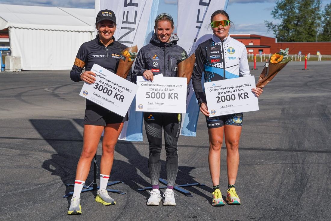 Karolina Hedenström, Lina Korsgren och Sofie Elebro. FOTO: Östersunds SK.