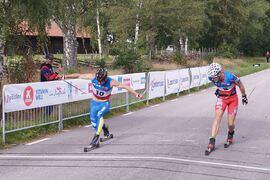 2020 vann Axel Bergsten, IFK Skövde, Nybrorullen med minsta möjliga marginal före Elias Andersson, Landsbro IF. FOTO: Nybrorullen.