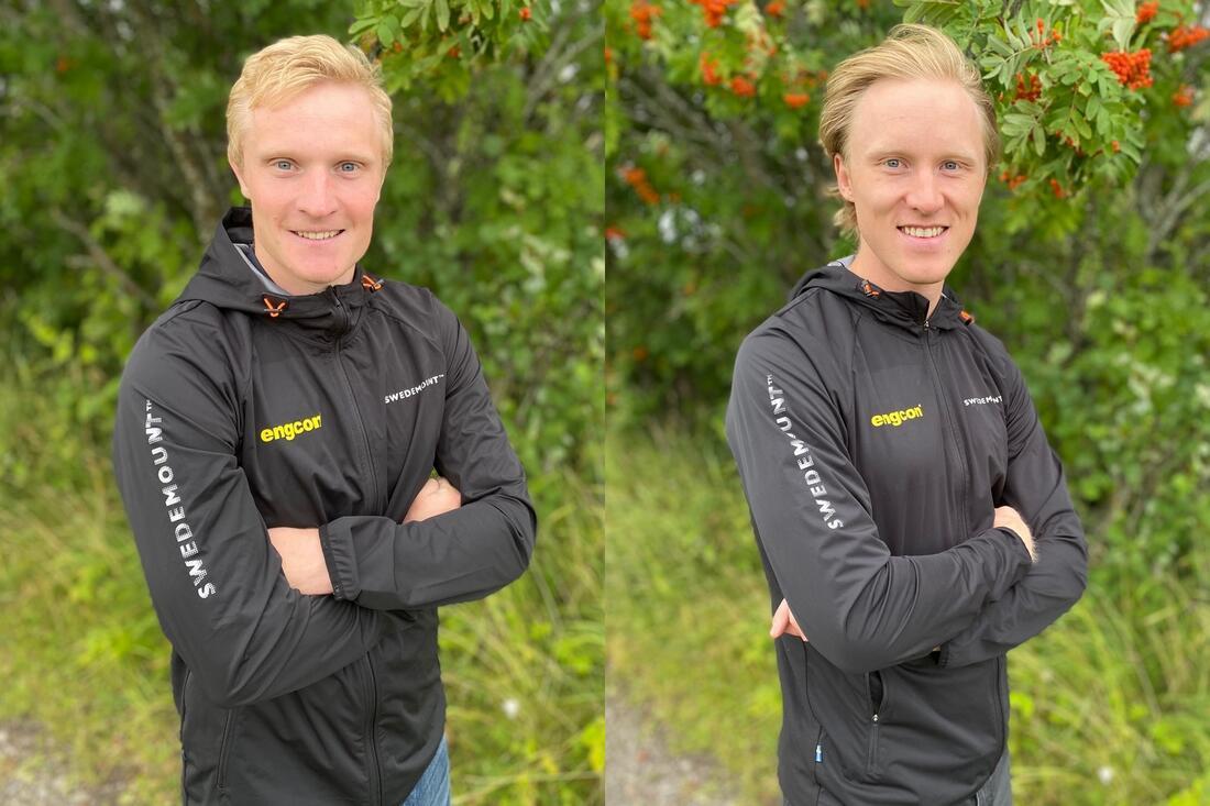 OS-klara landslagsduon Jens Burman, Åsarna IK och Oskar Svensson, Falun Borlänge SK, blir också en del av Team Engcon. FOTO: Team Engcon.