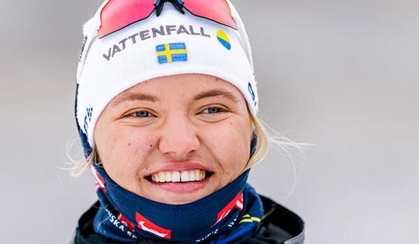 En nyopererad Linn Svahn är trött och sliten men fast besluten om att satsa framåt och kriga sig tillbaka. FOTO: Svenska skidförbundet.