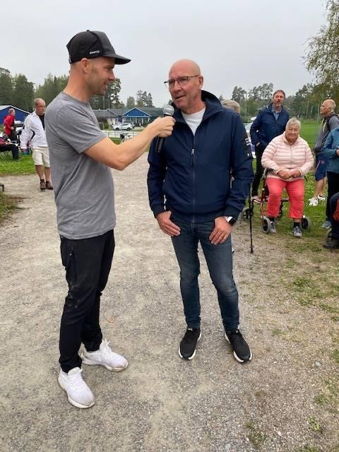 Gamle OS- och VM-hjälten Torgny Mogren fanns på plats under invigningsdagen i Storvreta. FOTO: Storvreta IK.