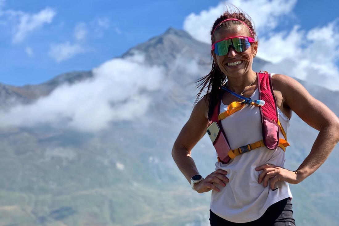 Elisabeth Högberg tränar på hög höjd i Frankrike med OS i sikte. FOTO: Privat.