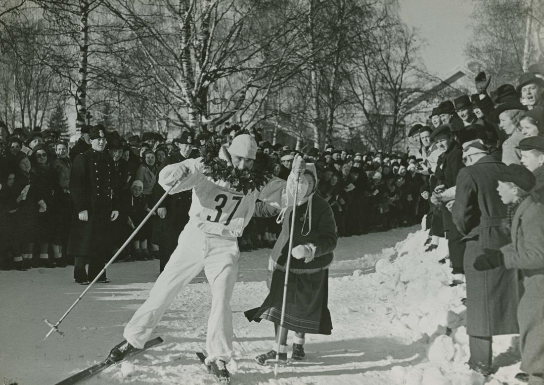 Arthur Häggblad vinner Vasaloppet 1940.