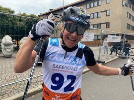 Hanna Falk vann före Lina Korsgren på Klarälvsloppet. FOTO: FOTO: Johan Trygg/Längd.se.