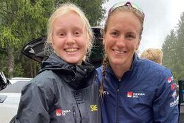 Mira Göransson tog brons i juniorklassen och Linn Sömskar vann ytterligare ett VM-guld när rullskid-VM avslutades i Italien på söndagen. FOTO: Svenska skidförbundet.