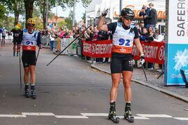 Hann Falk spurtar in strax för Lina Korsgren som segrare på Klarälvsloppet. FOTO: Tony Welam/Klarälvsloppet.