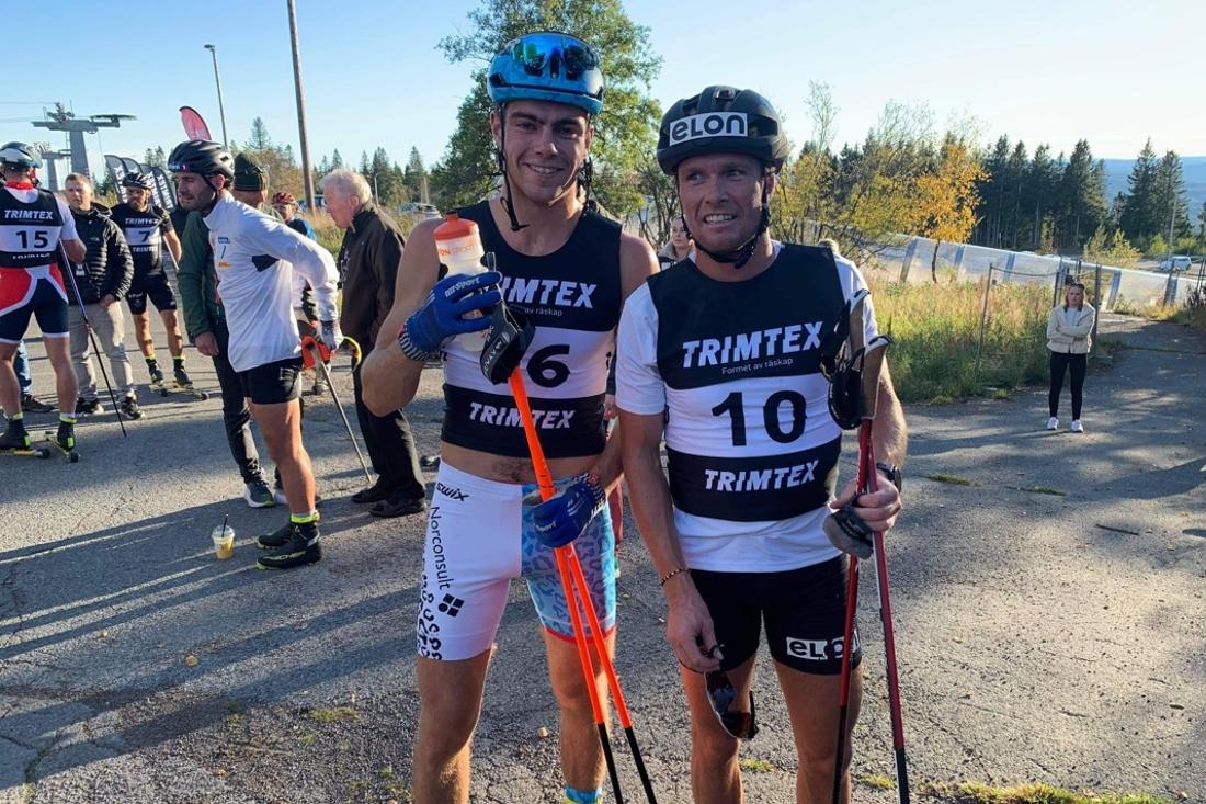 Thomas Helland Larsen vann och Gaute Kvåle blev trea på Ragde Charge opp Tryvann på torsdagskvällen. FOTO: Öyvind Moen Fjeld.
