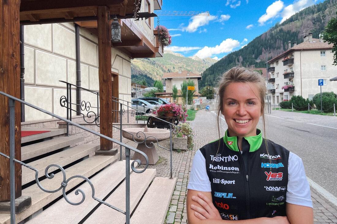Frida Erkers blir en del av italienska långloppslaget Team Robinson Trentino. FOTO: Privat.