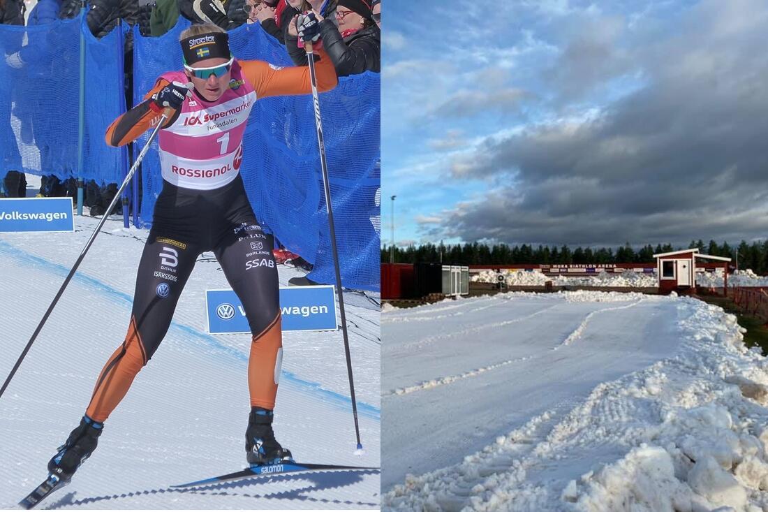 Maja Dahlqvist testar formen på snö i morgon och möter bland annat Anna Dyvik och Johanna Hagström. FOTO: Johan Trygg/Längd.se / IFK Mora SK.