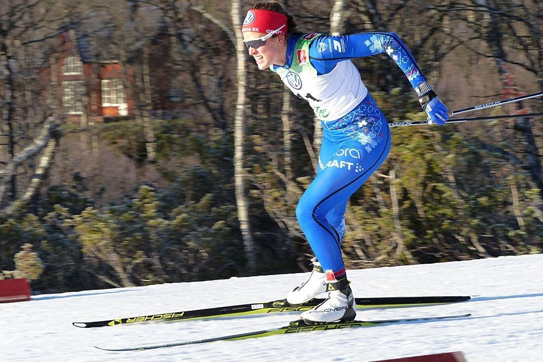 Anna Dyvik vann knockoutsprinten i Mora på lördagsmorgonen. FOTO: Johan Trygg/Längd.se.