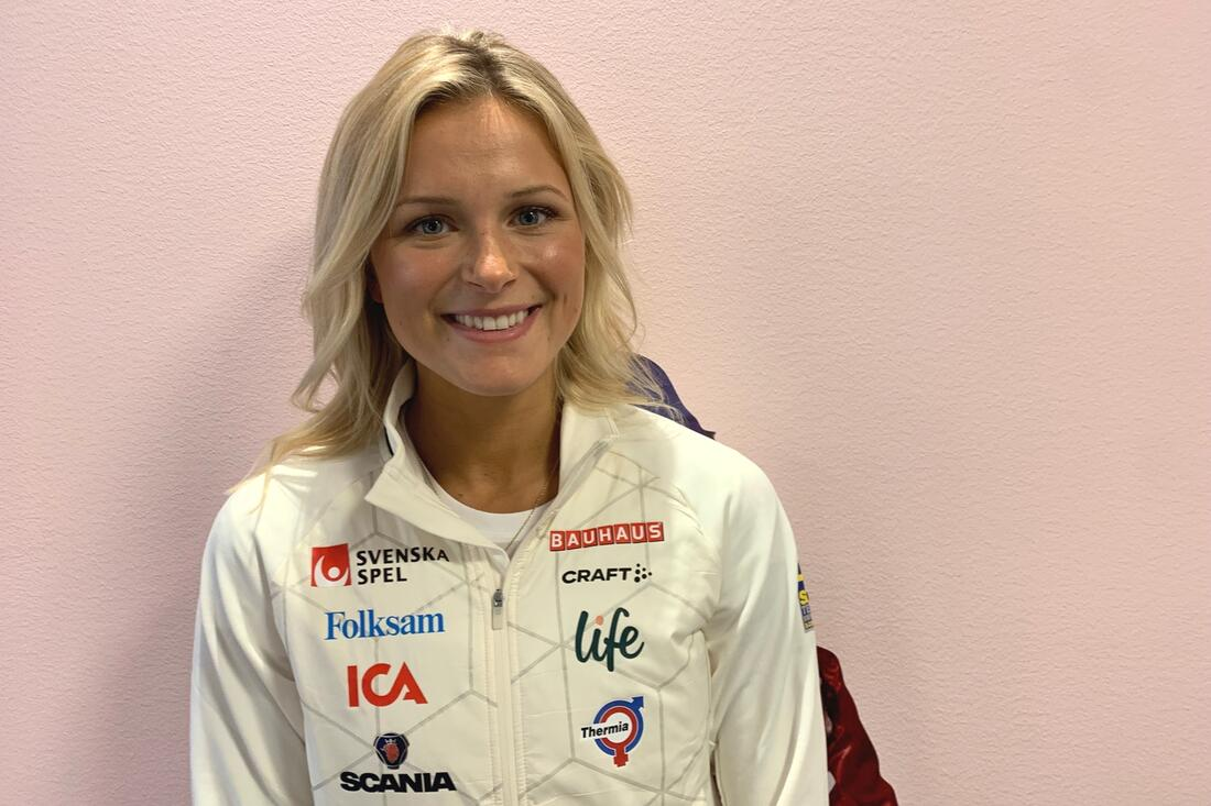 Frida Karlsson är glad att vara tillbaka i tuff träning inför säsongsstarten om sex veckor. FOTO: Johan Trygg/Längd.se.