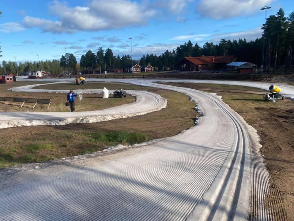 800-metersspåret vid Mora Skidstadion öppnade efter Mora Ski Festival i helgen och är nu öppet att träna på. FOTO: IFK Mora SK.