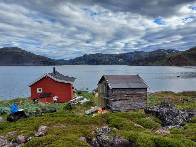 Must-hytta i Kobbholmfjorden