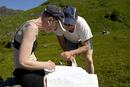 Bølemarsj 2007 - Reidun og Sigurd studerer kartet