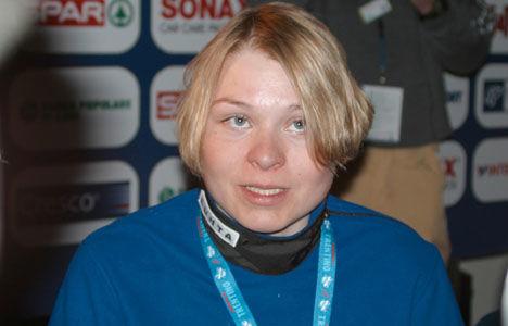 Kaisa Varis är troligen färdig som toppidrottare. Här från dopingskandalen vid skid-VM i Val di Fiemme 2003.  - foto: KJELL-ERIK KRISTIANSEN, www.kristiansen-sport.com