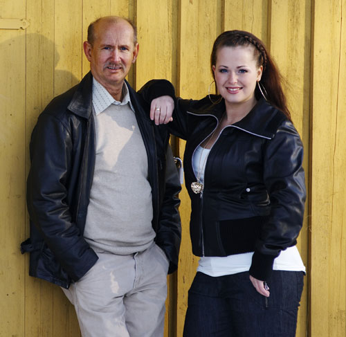 Elias og Veronica Akselsen. Foto: Anders Bergersen