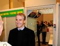 Foreign Minister Jonas Støre at Boris Gleb border station