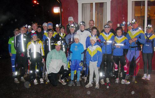 DOMNARVETS GoIF är av de stora skidklubbarna i Sverige. Här från träning i Bergebo. Foto: KJELL-ERIK KRISTIANSEN