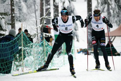 MARCUS HELLNER (och möjligen Mathias Fredriksson bakom) kan dyka upp vid Team Sportia Cup-tävlingarna i Skellefteå 4-5 december. Foto: KJELL-ERIK KRISTIANSEN