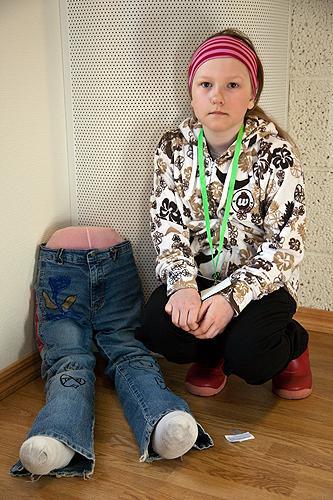Anette Eriksen (10) med kunsten \