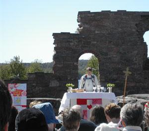Biskop Gunnar Stålsett prekte Foto: Thor Eek