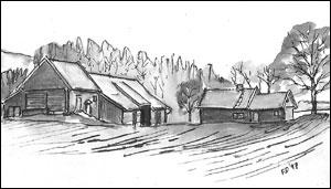 Bakken gård i Neskroken; Frances Dodman